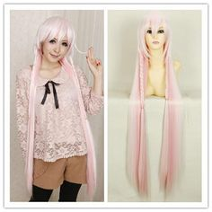 Snow Pink Cosplay VOCALOID 3 Hatsune Miku Library IA Wig 100cm SP152592