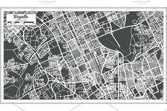 #Riyadh #Saudi #Arabia #City #Map  by Igor Sorokin on @creativemarket