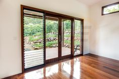 Photo gallery of our custom made Timber Louvre and Power Louvre Windows Louvre Doors, Louvre Windows, Timber Windows, Blinds For Windows, Perth, 3 Season Room, Bali House, Front Deck, Sliding Doors