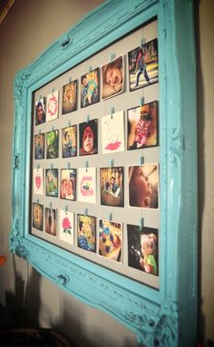 DIY Ideas With Old Picture Frames - DIY Photo Frame Of An Old Picture Frame - Cool Crafts To Make With A Repurposed Picture Frame - Cheap Do It Yourself Gifts and Home Decor on A Budget - Fun Ideas for Decorating Your House and Room Ideias Diy, Blog Deco, Home And Deco, Crafty Craft, Crafting, Photo Displays, Card Displays, Wall Collage, Wall Art