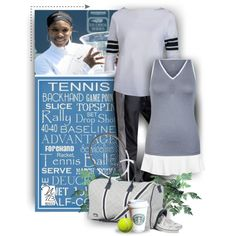 New Ame & Lulu Ladies Tennis Tote Bags - Nicole's Tennis Boutique by nicolestennisboutique on Polyvore featuring Jofit, Lacoste and AME