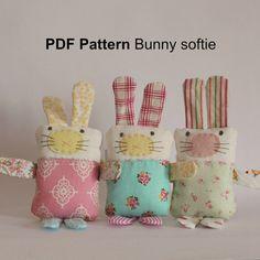 PDF Pattern Bunny softie by roxycreations on Etsy