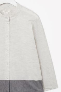 Melange shirt dress