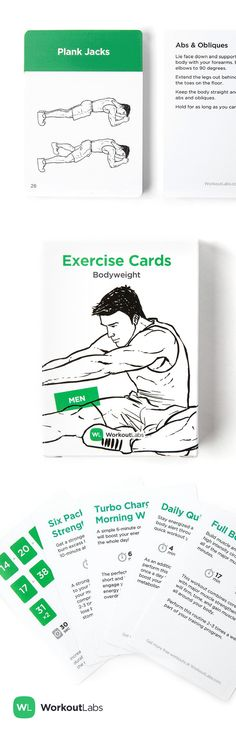 Grab these waterproof Exercise Cards for intense no-equipment workouts at home or the gym – http://WLShop.co