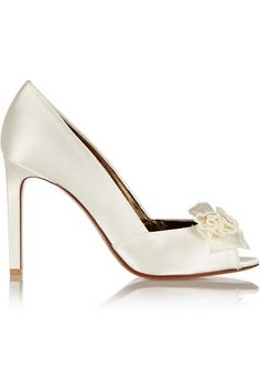 6aded7b75d3 Love this by LANVIN Bow-Embellished Satin Pumps -  850 Bridal Shoes