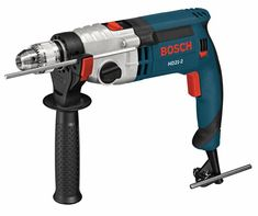 Bosch Corded Hammer Drill at Lowe's. The Bosch Two-Speed Hammer Drill features outstanding power, with a Amp motor that handles all masonry drilling applications. This hammer drill Dremel, Cordless Drill Reviews, Exterior Cladding, Hammer Drill, Drill Driver, House Front, Power Tools, Drills, High Speed
