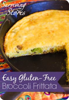 Gluten Free Broccoli Frittata!!  So easy to make and perfect for ANY meal!