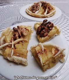 Crostatine di mele, noci e cannella con caramello - Apple mini-pies with walnuts, cinnamon and caramel