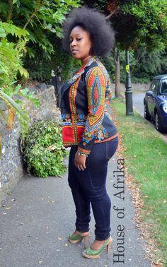 African print black dashiki jacket. by HouseofAfrika on Etsy ~African fashion, Ankara, kitenge, African women dresses, African prints, African men's fashion, Nigerian style, Ghanaian fashion ~DKK