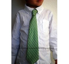 Tutorial: Resize a man's neck tie to fit a child