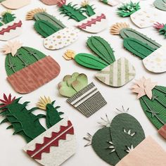 Paper plants. This would also be fun made from fusible-backed fabric.