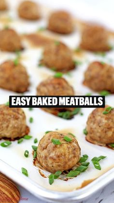 Easy Baked Meatballs, Baked Meatball Recipe, Meatball Recipes, Steak Recipes, Holiday Recipes, Dinner Recipes, Clean Eating Recipes, Healthy Recipes, Mince Dishes