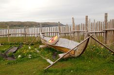 Reconstruction of Viking boat at the L'Anse aux Meadows settlement (Megan Em via Wikimedia Commons under CC BY-SA 3.0) Who Was Gudrid and Did She Really Exist? | History | Smithsonian Magazine L'anse Aux Meadows, Digital History, Viking Woman, Women Names, Adventure Quotes, Archaeological Site, Pilgrimage, Historical Sites, Travel Quotes
