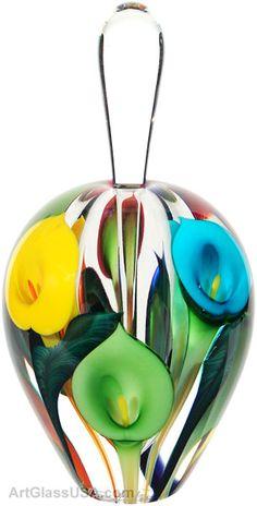 Calla Lily Art Glass Perfume Bottles by Scott Bayless