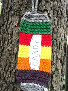 Plastic Bag Holder Candy Roll Inspired by by crochetedbycharlene