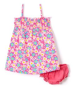 This Pink Floral Tank Dress & Diaper Cover - Infant & Toddler is perfect! #zulilyfinds