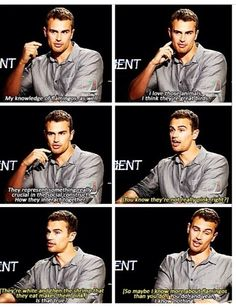 I found the whole interview lol this is great. Theo James everyone.