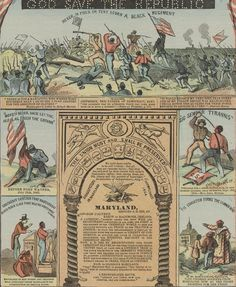 Poster - The Battle of New Market Heights was prominently displayed on this recruiting poster, hung in Philadelphia in 1864. (Library of Congress)