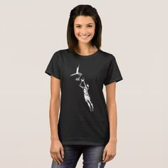 Highlighted Female Basketball Silhouette T-Shirt - girl gifts special unique diy gift idea