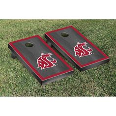 Victory Tailgate Alabama State University Hornets Baggo Bean Bag Toss Cornhole Game Homefield Design