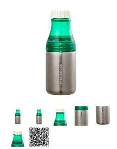 Korea Starbucks 2015 Summer Sunny silver water bottle 500ml Green Stainless 2ea #Starbucks