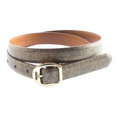 Ralph Lauren Womens 'Tanzanite' Genuine Leather Skinny Belt! Only $34.99 @ www.redtagfashion.com