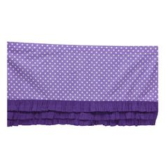 Bacati Mix and Match Ruffled Bottom Dots Crib Skirt Purple for sale online