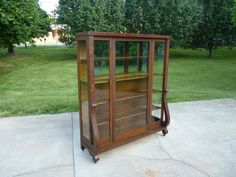 Quartersawn Oak China Cabinet from owenstreasures on Ruby Lane