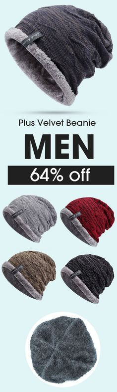 64% off&Free shipping. Mens Plus Velvet Knitted Stripe Beanie Hats Outdoor Winter Warm Skullies Beanies. Hipster Fashion, Fall Fashion, Trendy Fashion, Mens Fashion, Fashion Outfits, Cool Outfits, Beanie Hats, Beanies, Hombre Casual