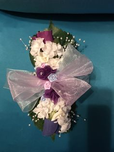 This wrist corsage was made for a wedding with roses, small calla lilies, baby breath, miniature roses, pearls, and brought together with lavender and powder blue ribbons. Calla Lily Wedding Flowers, Calla Lilies, Wedding Planning, Wedding Ideas, Wrist Corsage, Blue Ribbon, Soy Candles, Ribbons, Lavender
