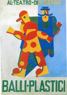 Fortunato Depero Billboard For The Plastic Dance