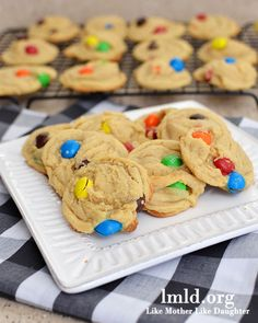 These cookies are amazing. Made with vanilla pudding and pb m&ms