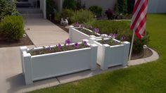 Vinyl Raised-Bed Garden Planters for patio
