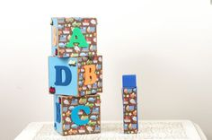 Baby boy themed large clothespin.  Perfect for holding photos, memos, etc. www.duryeaplace.com