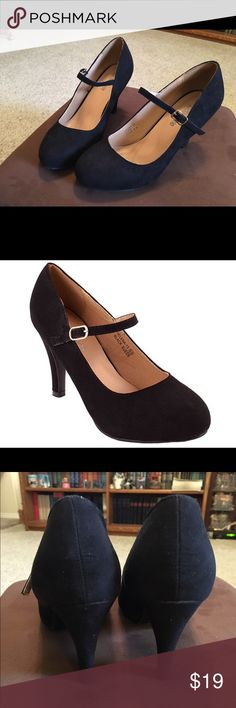Helena-13 High Heel Suede Pumps w/ Buckle Sz 7.5 Bella Marie Helena-13 High Heel Suede Pumps with Buckle Closure. Size 7.5. Black Suede. 4 inch heel. These are in great condition. Get them here for a great price! bella marie Shoes Heels