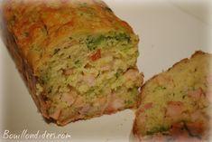 Cake salé sans GLO (sans gluten, lait- PLV ou Lactose, ni oeuf), au tofu soyeux Bouillondidees