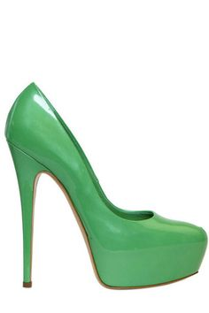 Patent Glossy Green Pumps