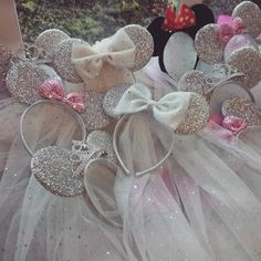 Another pile of Minnie veils to be packed up! #Disney #minniemouse #minnieears…