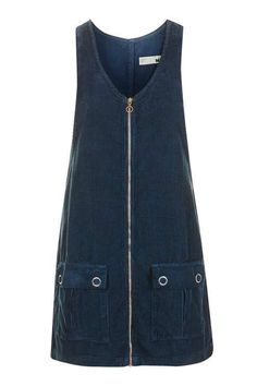 Zip it on up.Topshop Moto Cord Zip Through Pini Dress, $74, available at Topshop. #refinery29 http://www.refinery29.com/2016/09/121776/layered-dresses-for-fall#slide-8