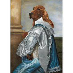 Irish Setter Art Prints Lord Setterland by OldWorldPetPortraits