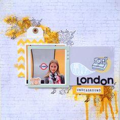 Hello London by gosti at Hello London, Studio Calico, Layouts, Scrapbooking, Scrapbooks, Memory Books, Scrapbook, Notebooks
