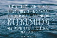 Times of Refreshing - Acts 3:19 - Verse of the Day