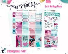 Purpose //  Mini Happy Planner // Weekly Kit // Printable Planner Stickers // Cut Lines by BEaYOUtifulPlanning on Etsy