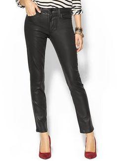 Joe's Jeans - Wax Coated Skinny Ankle Jean #15Things #fashion #style #trending #jeans #denim #skinny #ankle #JoesJeans #waxed #coated