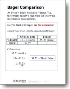 NCTM- unit rate/ proportional reasoning.  Task based