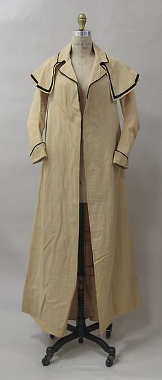 Coat Date: ca. 1790 Culture: European Medium: cotton Dimensions: Length at CB: 59 in. (149.9 cm) Credit Line: Purchase, Friends of The Costume Institute Gifts, 2012 Accession Number: 2012.387