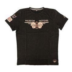 Warson Motors Heaven Riders Carbone Mens T-Shirt, available through www.rustyunionmoto.com.au Motors, Heaven, Mens Tops, T Shirt, Fashion, Supreme T Shirt, Moda, Sky, Tee Shirt