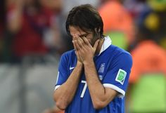 Costa Rica Edges Greece In Penalty Shootout To Continue World Cup Dream Run - Greece's forward Georgios Samaras reacts after loosing the penalty shoot out of the round of 16 football match between Costa Rica