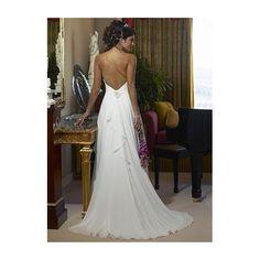 Chiffon chiffon wedding dresses and wedding dress sheath on pinterest