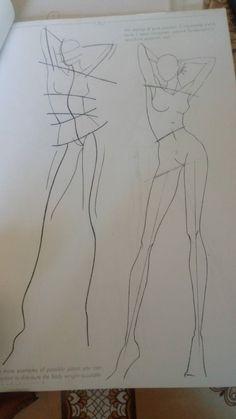 Fashion Figure Drawing, Fashion Model Drawing, Fashion Design Drawings, Fashion Sketches, Fashion Illustration Dresses, Fashion Figures, Diy Canvas Art, Designs To Draw, Fashion Art